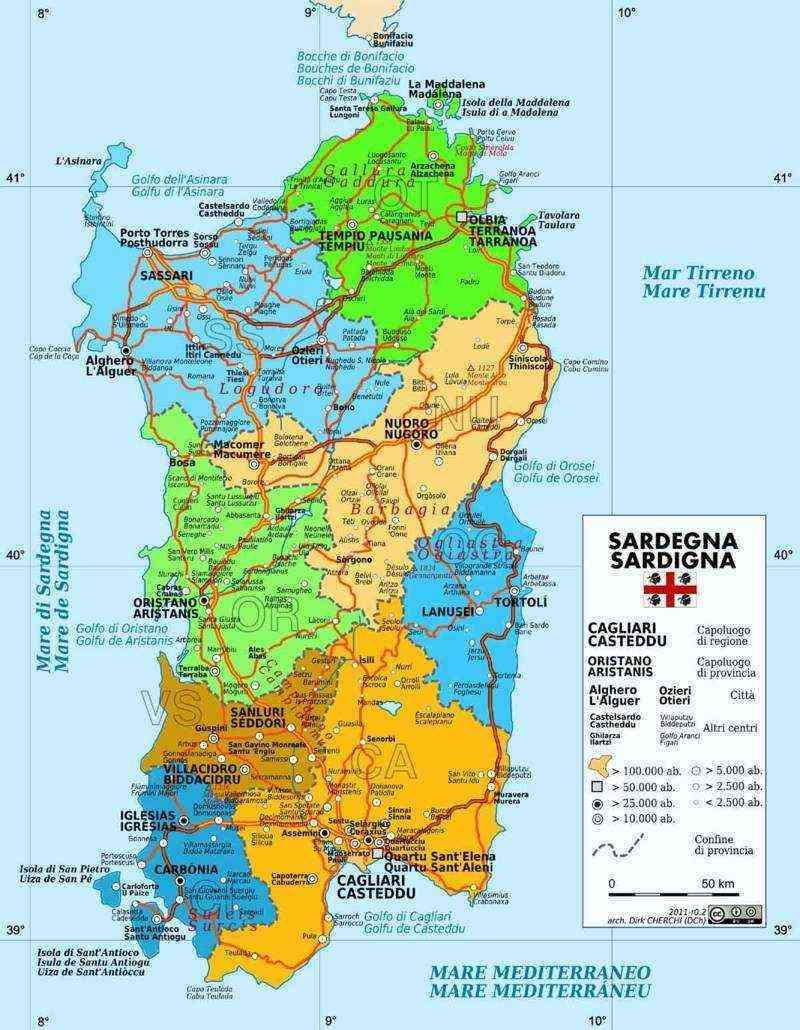 Isole Sardegna Cartina.Ambiente E Natura In Sardegna Qui Sardegna 7569
